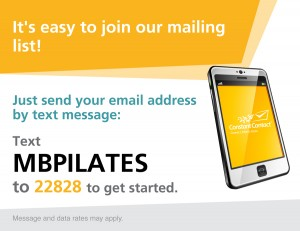 Text 22828 to Join Mailing List